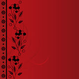 Red floral background. Classical red floral background with space for text Stock Photos