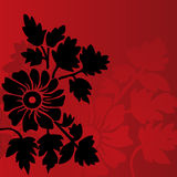 Red floral background. Classical red floral background with space for text Stock Images