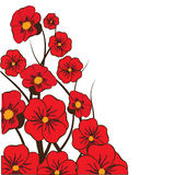 Red floral background. For your design Stock Images