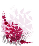 Red floral background Stock Image