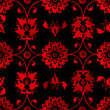Red floral background Stock Images