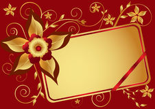 Red floral background Royalty Free Stock Photo