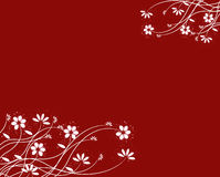 Red Floral Background,  Stock Photography