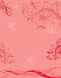 Scroll, Floral and Splatter Background Stock Image