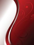Red floral background Royalty Free Stock Image