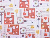 Red floral background Royalty Free Stock Images