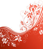 Red floral background. Royalty Free Stock Photography