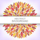 Red floral background. Stock Photography