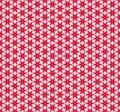 Red floral background; vector seamless pattern. simple shapes. Red flowers on white background; vector seamless pattern. simple geometric shapes Royalty Free Stock Photos