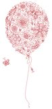 Red floral balloon. Royalty Free Stock Photo
