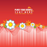 Red floral banner Royalty Free Stock Photos