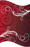 Red floral banner Stock Photography