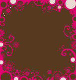 Red floral border stock illustration
