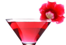 Red floral cocktail Royalty Free Stock Photo