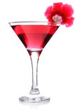 Red floral cocktail Stock Photos