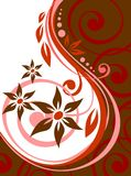 Red floral curves Royalty Free Stock Photos