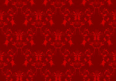 Red floral damask background. Vintage beauty red damask background. Swatches include Royalty Free Stock Image
