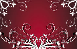Red floral design Stock Photography