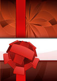Red floral focus point with ribbon text place vector Royalty Free Stock Image