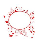 Red floral frame Royalty Free Stock Photos