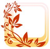 Red floral frame Stock Photos