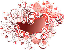 Red floral frame Stock Photography
