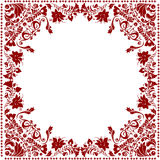 Red floral frame decoration Royalty Free Stock Photography