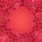Red Floral Frame Royalty Free Stock Image