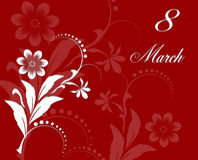 Red Floral Greeting card Royalty Free Stock Images