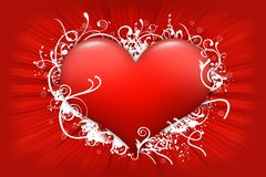 Red Floral Heart Royalty Free Stock Images
