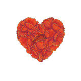 Red floral heart Stock Image