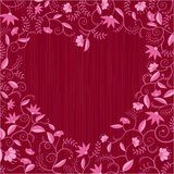 Red floral heart shaped pattern Stock Images