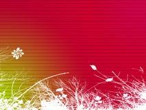 REd Floral Illustration Stock Image