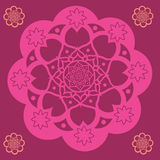 Red  floral mandala Stock Images