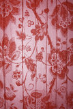 Red floral metallic background. High resolution red floral metallic wallpaper background Stock Photo