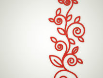 Red floral motive. Concept rendered Stock Illustration