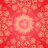 Red floral ornament background Royalty Free Stock Images