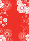 Red floral ornement Royalty Free Stock Images