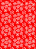 Red floral pattern Stock Images