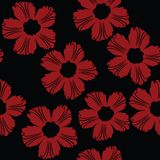 Red floral pattern Stock Image