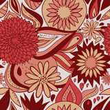 Red floral pattern Stock Photo