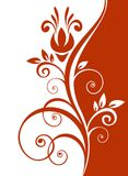 Red floral pattern Royalty Free Stock Photos