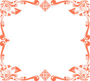 Red floral pattern Royalty Free Stock Images