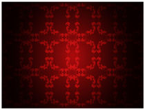 Red floral pattern wallpaper Royalty Free Stock Photography