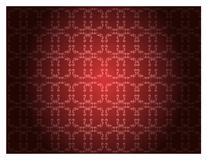 Red floral pattern wallpaper Stock Photography