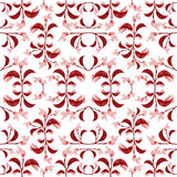 Red Floral Print Pattern Stock Image