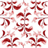 Red Floral Print Pattern Stock Photography