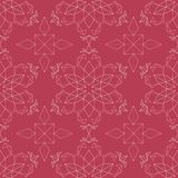 Red floral seamless pattern. Pale red and beige colored background. For wallpapers, textile and fabrics Stock Images