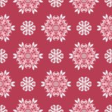 Red floral seamless pattern. Pale red and beige colored background. For wallpapers, textile and fabrics Stock Image