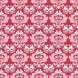 Red floral seamless pattern. Pale red and beige colored background. For wallpapers, textile and fabrics Stock Photography
